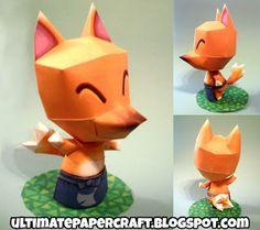 Redd from Animal Crossing papercraft