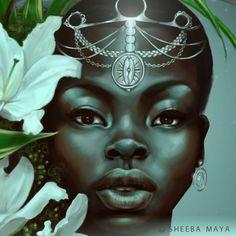 "Detail of ""Virgo"" by Sheeba Maya."
