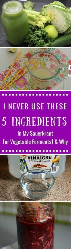 5 Ingredients I NEVER Use in My Sauerkraut [or Vegetable Ferments] and Why. Why…