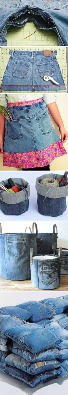 Old Jeans Craft Ideas