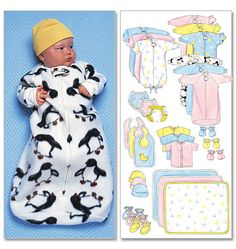 Look no further for your infants bunting, jumpsuit, shirt etc Butterick pattern Available to buy on-line from Sew Essential. Baby Bunting, Baby Sewing Projects, Sewing For Kids, Baby Patterns, Sewing Patterns, Baby Sleeping Bag Pattern, Layette Pattern, Diy Bebe, Baby Layette