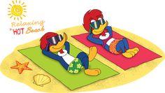 Woody n Winnie Relaxing in beach by MarkDekaBreak on DeviantArt