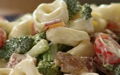Tortellini broccoli bacon salad