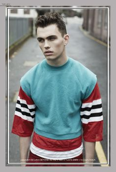 Rough-Young-Things-Layout9 Editorial Fashion, Men Sweater, Magazine, Sweaters, Men's Knits, Magazines, Sweater, Sweatshirts, Pullover Sweaters