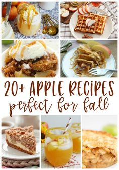 20+ Apple Recipes, perfect for Fall! Breakfasts, desserts, drinks, and more!