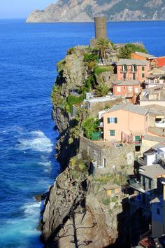 Vernazza Italy - One of the five villages comprising the beautiful Cinque Terre.