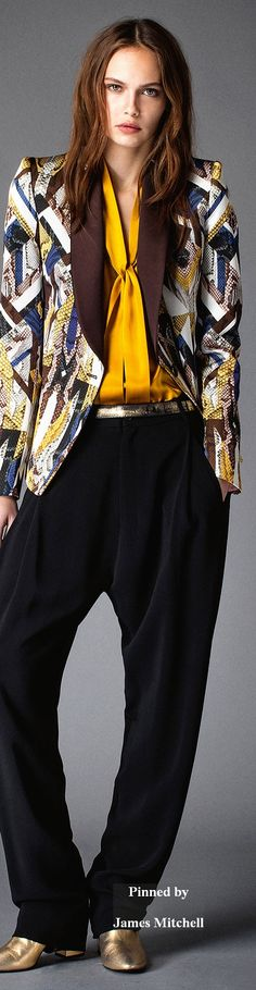 Just Cavalli Collection Pre-Fall 2015 women fashion outfit clothing style apparel @roressclothes closet ideas