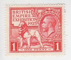 England Postage Stamps   ... : British Empire Stamps-1925 British Empire Exhibition Postage Stamp