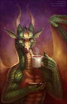 Morning Coffee Dragon Afternoon Branch Noon Evening Days And Nights