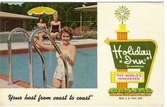 vintage pool ad | Advertising Holiday Inn Hotel Vintage Swimming Pool Lake City, Florid ...