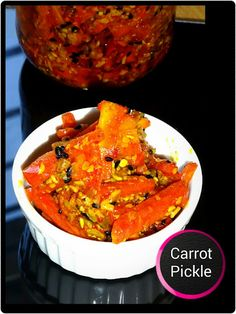 How to prepare Carrot Pickle Bangladeshi Food, Bangladeshi Recipes, Indian Carrot Recipes, Good Food, Yummy Food, Quick Recipes, Yummy Recipes, Chutney Recipes, Indian Snacks