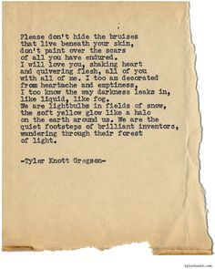 Typewriter Series #1076 by Tyler Knott Gregson*Chasers of the Light, is available through Amazon, Barnes and Noble, IndieBound , Books-A-Million , Paper Source or Anthropologie *