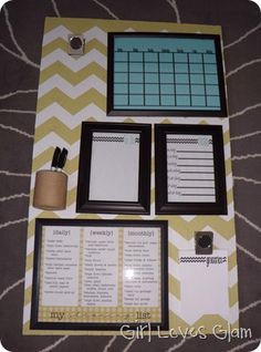 Love this DIY organization board from GirlLovesGlam.com! This is happening this weekend!