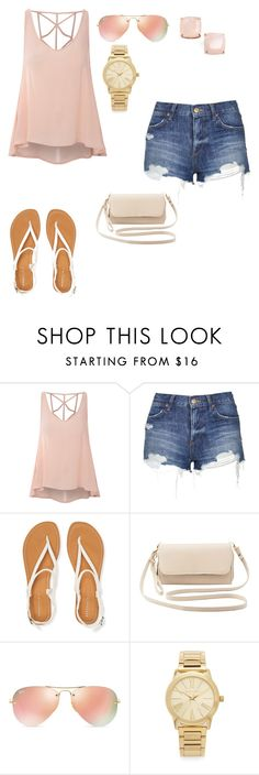 """""""I can't wait until spring break vacation"""" by sweet-brownsuga ❤ liked on Polyvore featuring Glamorous, Topshop, Aéropostale, Charlotte Russe, Ray-Ban, Michael Kors, Kate Spade, women's clothing, women and female"""