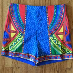 """Flying Tomato pieced high waisted shorts Back zip entry. 97% cotton, 3% spandex. Waist 14"""" across. Inseam 3"""". Rise 12"""". Brand new with store tag. Bundle for even bigger savings! Offers welcome. No trades. Flying Tomato Shorts"""