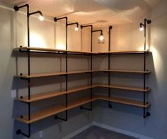 4 Awesome Tricks: Industrial Style Wohnen industrial shelving around tv. Industrial Shelving, Industrial House, Industrial Lighting, Rustic Industrial, Industrial Closet, Industrial Windows, Industrial Restaurant, Industrial Apartment, Industrial Bedroom