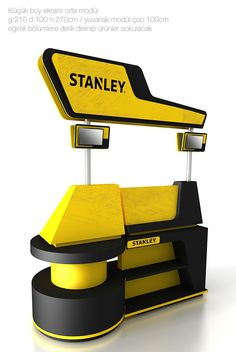 stanley on Behance Pos Design, Display Design, Booth Design, Retail Design, Store Design, Point Of Sale, Point Of Purchase, Tool Stand, Kiosk