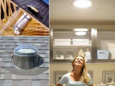 Install a small window in your kitchen ceiling and save money on electricity. Natural light is better anyway!