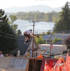 Celebrating Original Team Rider, Will Stephan, picking up big air at Cathlamet over the weekend with a throw back to last year's event on the Arbiter DK.  Photo: Charlie Marks   See the board: http://originalskateboards.com/longboards/arbiter-36-dk-longboard-skateboard