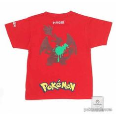 Pokemon Center 2016 Spatoon X Pokemon Center Charizard Red Adult Size T-shirt (Size Medium)