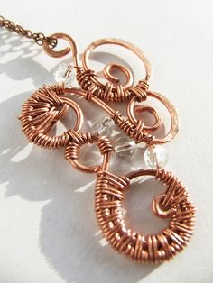 Grapevine Wire Weave Pendant by ~pixie-trick on deviantART