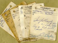 Antique Handwritten Pharmacy Prescriptions for by PaperSymphony