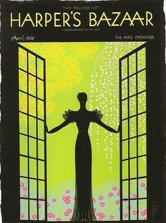 Erte illustrated nearly 250 covers for Harper's Bazaar magazine.    Erte's bronze sculptures will be on display at the Art Deco Welcome Center (1001 Ocean Drive) during ARt Deco Weekend January 18-20th 2013