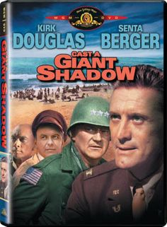 John Wayne Movie / CAST A GIANT SHADOW 1966) An American Army officer (Kirk Douglas) is recruited by the yet to exist Israel to help them form an army. He is disturbed by this sudden appeal to his jewish roots. Each of Israel's Arab neighbors has vowed to invade the poorly prepared country as soon as partition is granted. He is made commander of the Israeli forces just before the war begins. Wayne as Gen. Mike Randolph.