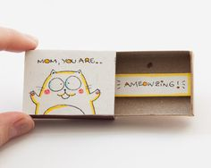 Mother Card Mom you are AMEOWZING Matchbox/ Gift box / by shop3xu