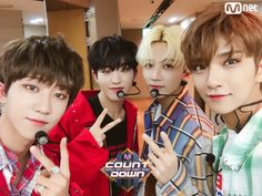 """""""[PIC] 170615 Backstage with THE8, Jeonghan, Joshua, and Hoshi at MCountdown © MCOUNTDOWN #디에잇 #THE8 #세븐틴 #SEVENTEEN"""""""