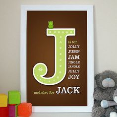 baby name art. Pick words that start with the same letter as your child's name to describe them. Love this!