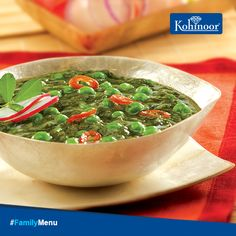 Here's a comforting lunch weekend #FamilyMenu to keep you cozy!  Suggested Meal: Lunch Main Course: #MethiMatarMalai Side Dish: Parantha  #Recipe: http://www.kohinoorindia.co.in/recipes/methi-mutter-malai.html#.VFdELfmUcn4