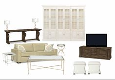 Soft, romantic, eclectic, living area