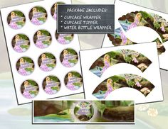 INSTANT DOWNLOAD  Printable Cupcake Wrappers by YourPrintableShop