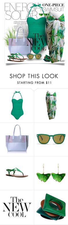 """""""Untitled #2499"""" by snippins ❤ liked on Polyvore featuring Magdalena, Heidi Klein, Emilie M., Persol, Ralph Lauren, Aurélie Bidermann, stylishcurves and plussizeswimsuit"""