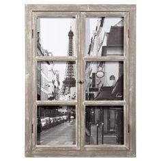 Holzbild Fenster PARIS, 57 x 79cm