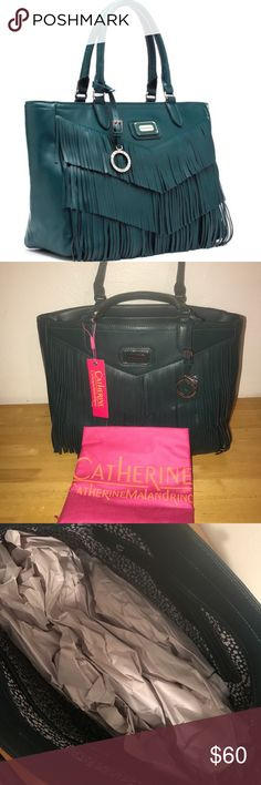 Catherine Malandrino Agnes Fringe Tote New with tags! Dust bag included. Catherine Malandrino Bags Totes