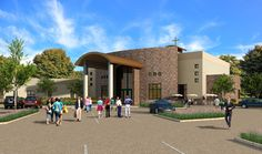 Crosspointe Architects specialize in church architecture Cascade Design, Summit Series, Outdoor Cafe, Church Architecture, Church Design, Church Building, Green Rooms, Architect Design, Atrium