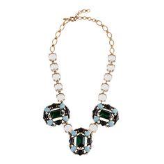 j. crew grand stone necklace