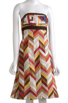 Masai Tribal Patchwork Bustier Mini Dress