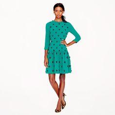 Collection leather-floret dress #JCrew #EastwoodPinPals