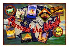 travel theme reception -