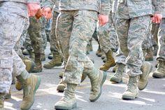 STOMP parade in Fairbanks, Alaska. Saluting our military.