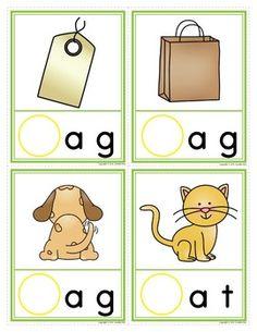 CVC INITIAL SOUND MAKE A WORD CLIP CARDS: INTERACTIVE PHONICS FUN - TeachersPayTeachers.com