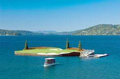 Coeur d'Alene Golf Resort. Par-3 14th hole.