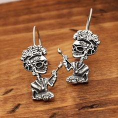 The Frida calaveras a wonderful earring set in by BiologicalJewels