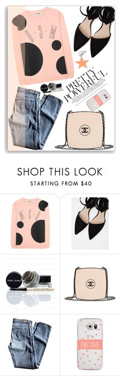 """""""McQ"""" by thestrawberryfields ❤ liked on Polyvore featuring McQ by Alexander McQueen, MANGO, Chanel, AG Adriano Goldschmied, Casetify, STELLA McCARTNEY, PolkaDots and AlexanderMcQueen"""