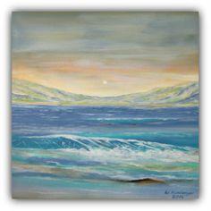 Acryl/Leinwand 50 cm x 50 cm x 1,5 cm  Wasser und Berge verkauft