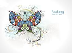 5 Painted Butterfly Floral Vector Backgrounds - http://www.dawnbrushes.com/5-painted-butterfly-floral-vector-backgrounds/