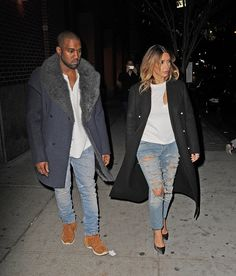 Kim and Kanye's best looks as a couple on Vogue.com.